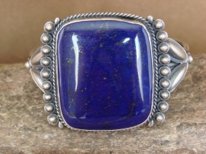 Native American Indian Jewelry Sterling Silver Blue Lapis Bracelet!