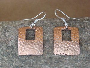 Navajo Indian Hand Stamped Copper Earrings by Douglas Etsitty!