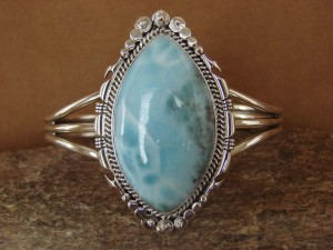 Native American Indian Jewelry Handmade Sterling Silver Laramar Bracelet