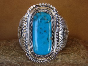 Native American Jewelry Sterling Silver Turquoise Bracelet! Raymond Delgarito