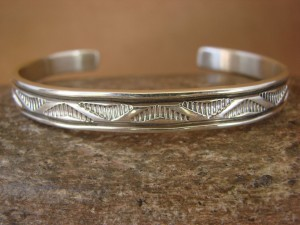 Native American Jewelry Sterling Silver Bracelet by Bruce Morgan!