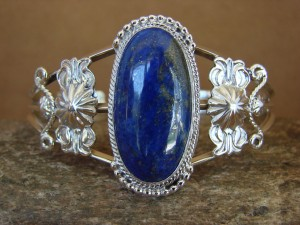 Native American Indian Jewelry Handmade Sterling Silver Lapis Bracelet
