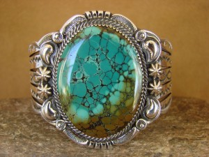 Native American Jewelry Sterling Silver Turquoise Bracelet! Will Denetdale