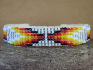 Native American Indian Jewelry Hand Beaded Bracelet by Jacklene Cleveland