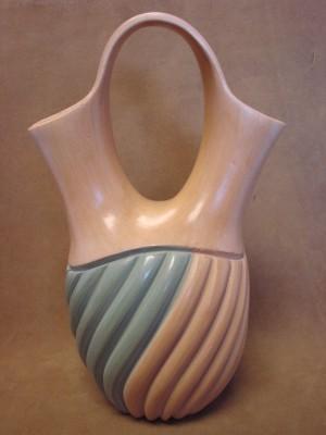 Native American Jemez Pueblo Pottery Clay Swirl Wedding Vase by Emma Yepa!