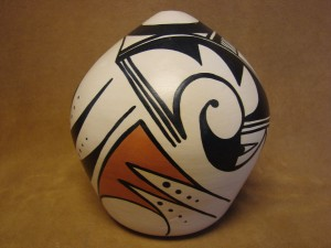 Native American Pottery Hand Coiled Seed Pot by Alta Tesslith! Hopi Indian Pueblo