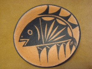 Santo Domingo Indian Pottery Handmade Plate by Lovajo! Pueblo Hand Coiled