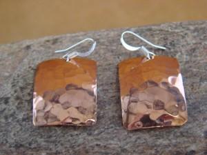 Native American Hand Stamped Copper Earrings by Douglas Etsitty!