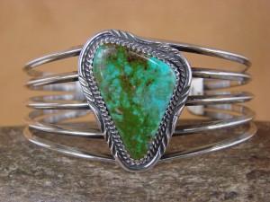 Native American Jewelry Sterling Silver Turquoise Bracelet! Alvin Joe