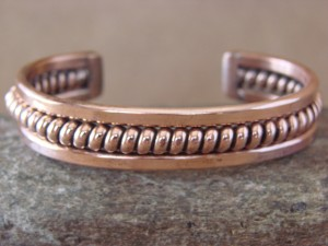 Navajo Native American Jewelry Handmade Copper Bracelet by Verna Tahe!