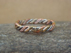 Navajo Indian Hand Made Copper Band Ring by Verna Tahe!, Size 11.5